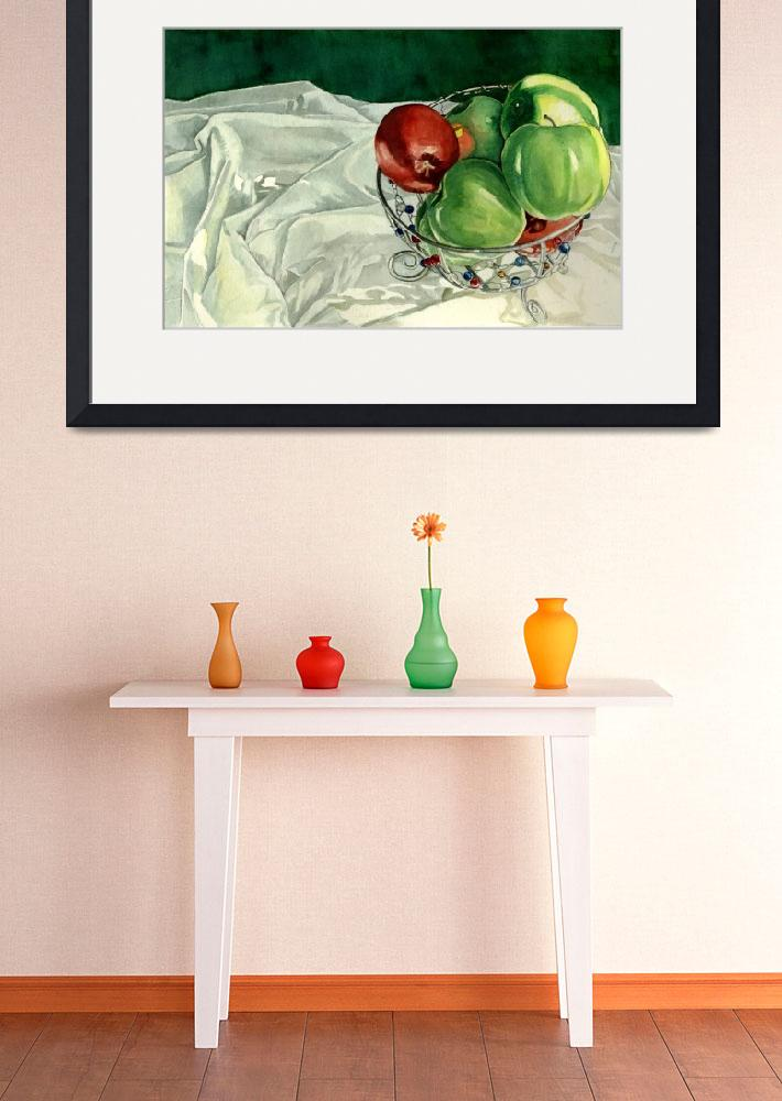 """""""Bowl of Apples&quot  (2003) by soothedbyrainfall"""