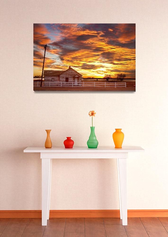 """Country House Sunset Longmont Colorado Boulder Cou&quot  (2011) by lightningman"