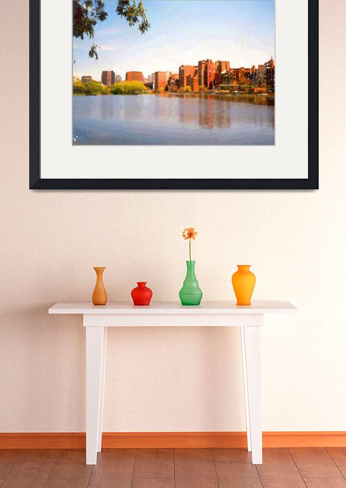 """""""Bright Day On Beacon Street""""  by scenicposters"""