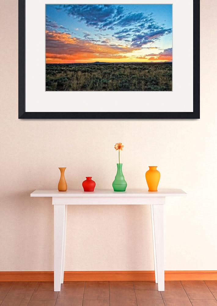 """""""Taos sunset July 17 2012&quot  (2012) by TaosFineArtPhotography"""