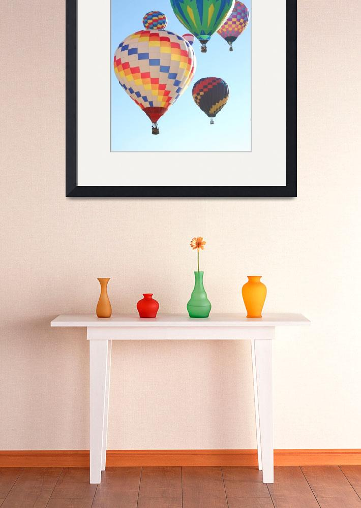 """""""Hot Air Balloons Rising&quot  (2008) by kncphotos"""
