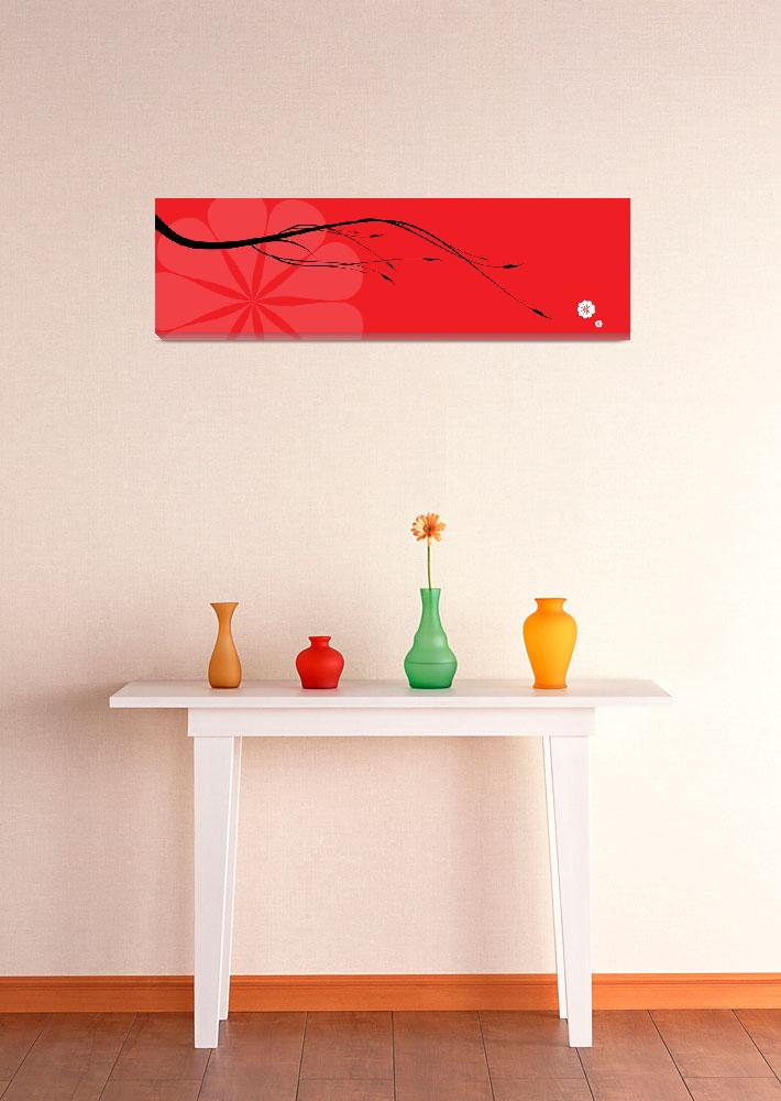 """""""Red japanese branch""""  (2011) by nomi"""
