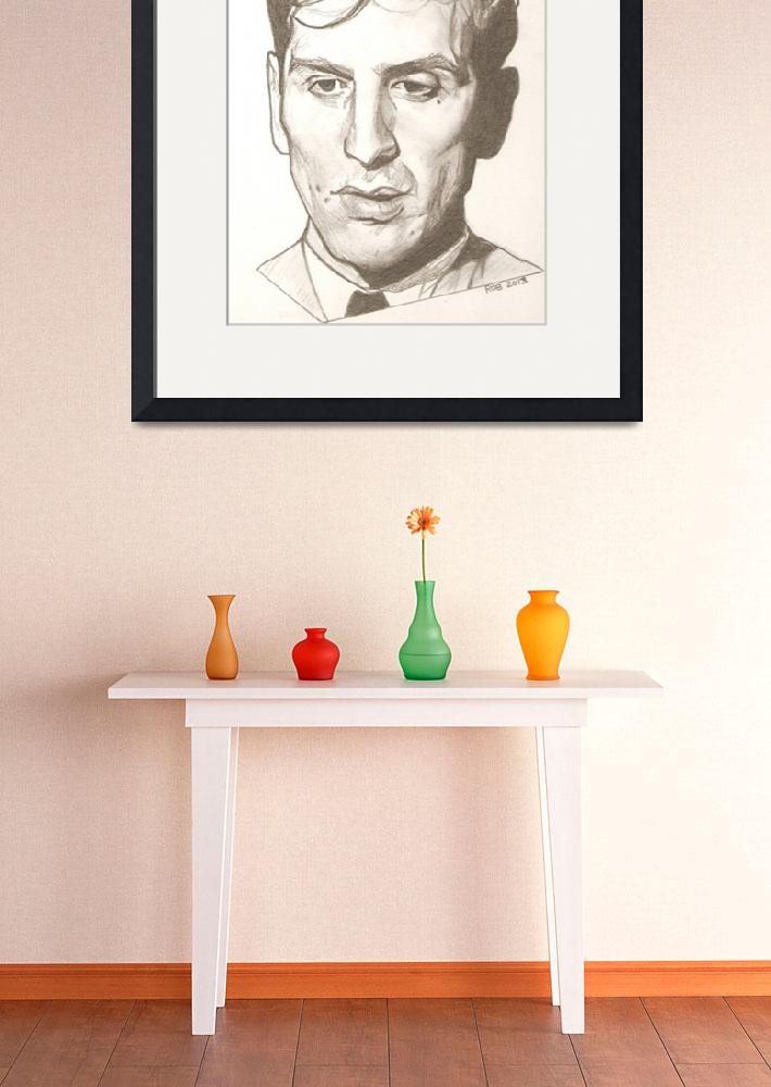 """""""Bobby Fischer drawing""""  (2013) by RobCrandall"""