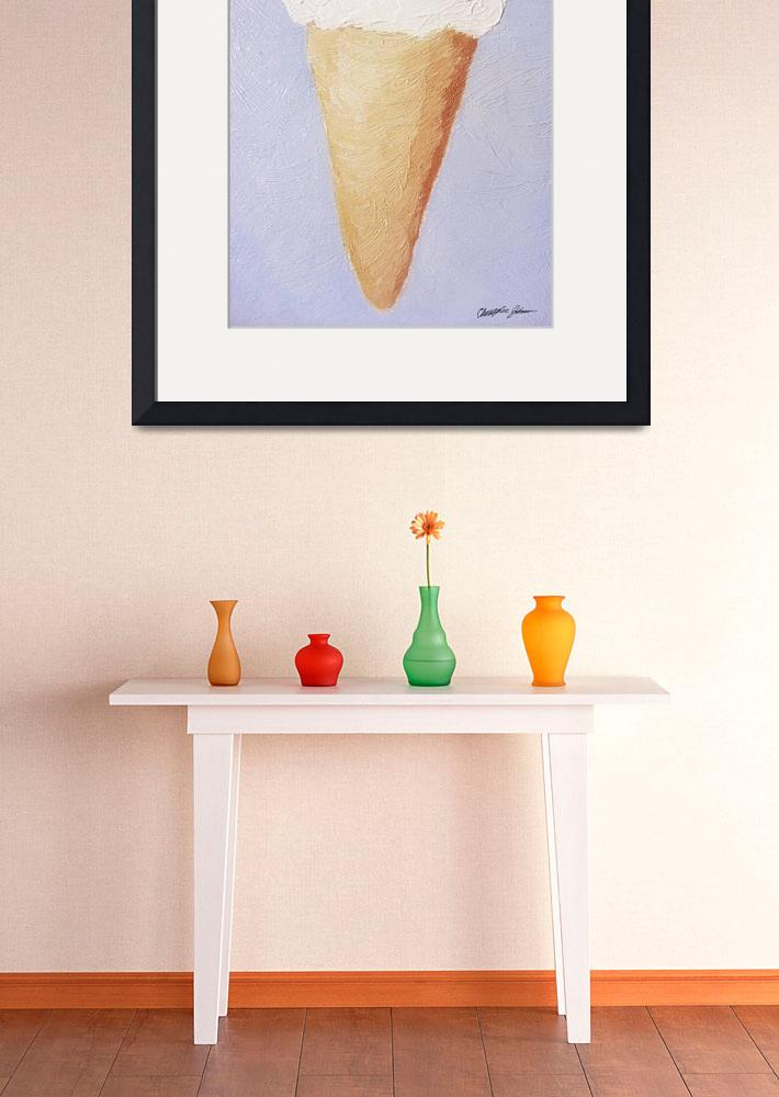 """""""Ice Cream Cone - Second Oil Painting&quot  by ChristopherInMexico"""