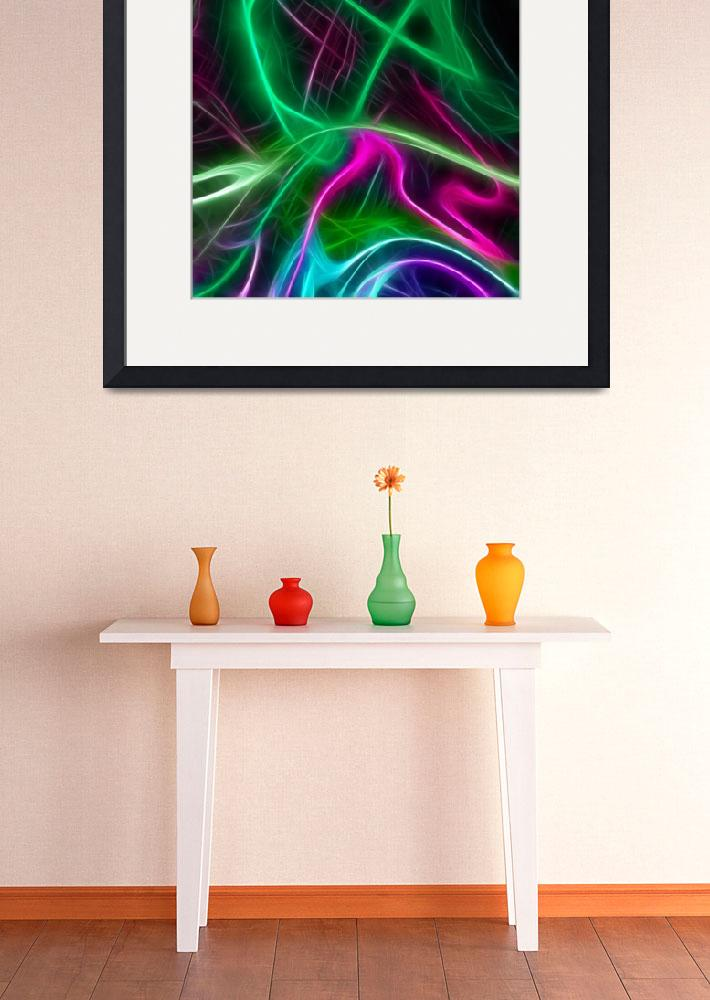 """""""Colorful Things Abstract art print&quot  (2017) by EdWarick"""