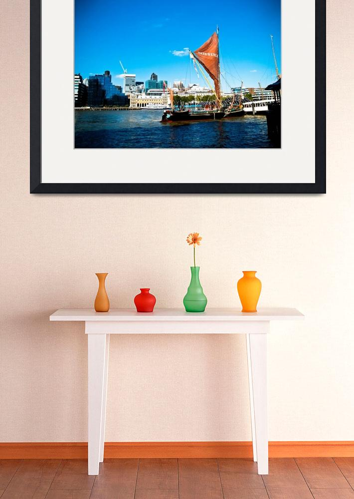 """""""Vibrant London: Sailboat on the Thames""""  by SnowdonPhotography"""