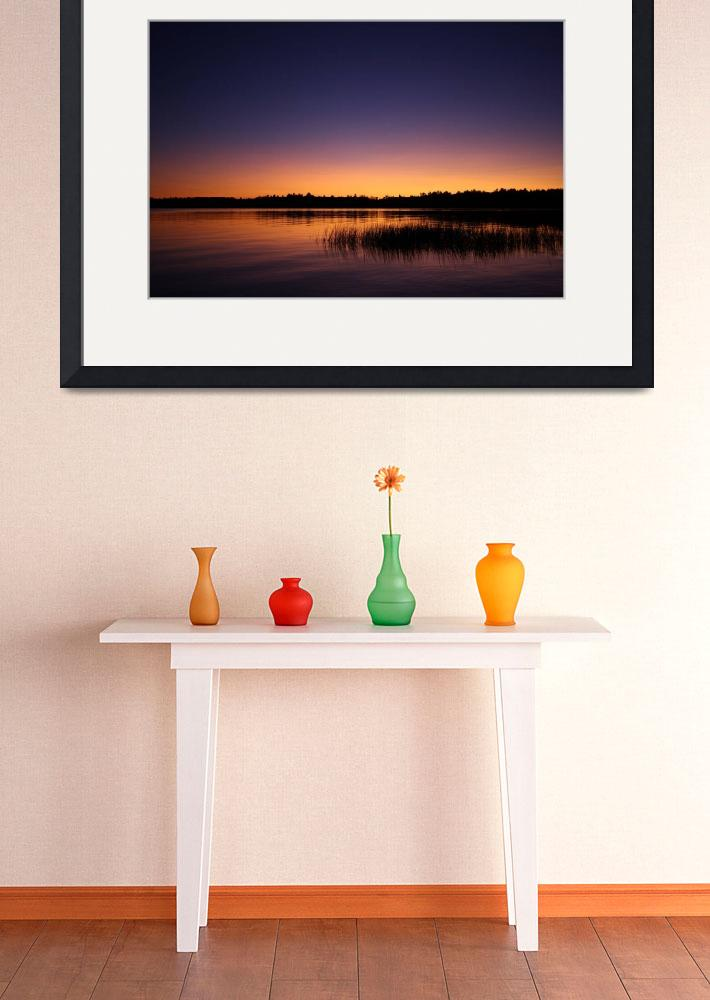 """Sunset Lake Massabesic&quot  (2008) by Broompl"
