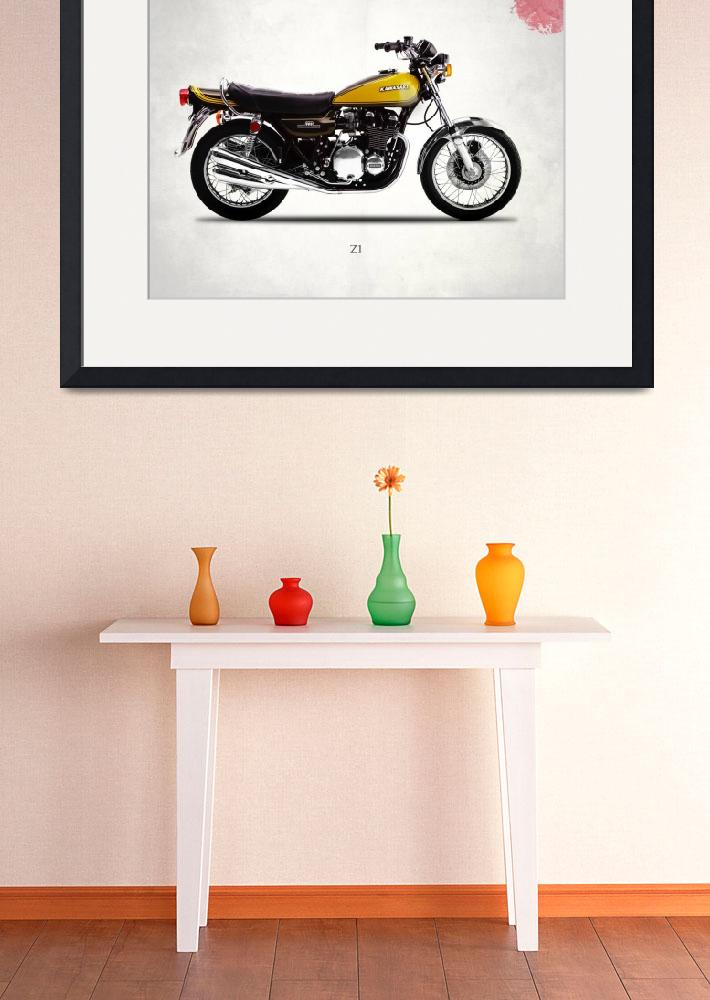 """The 1973 Z1 Classic Motorcycle&quot  by mark-rogan"