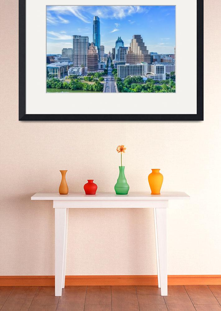 """""""Austin Cityscape with the Texas Capital&quot  (2015) by beecreekphotography"""