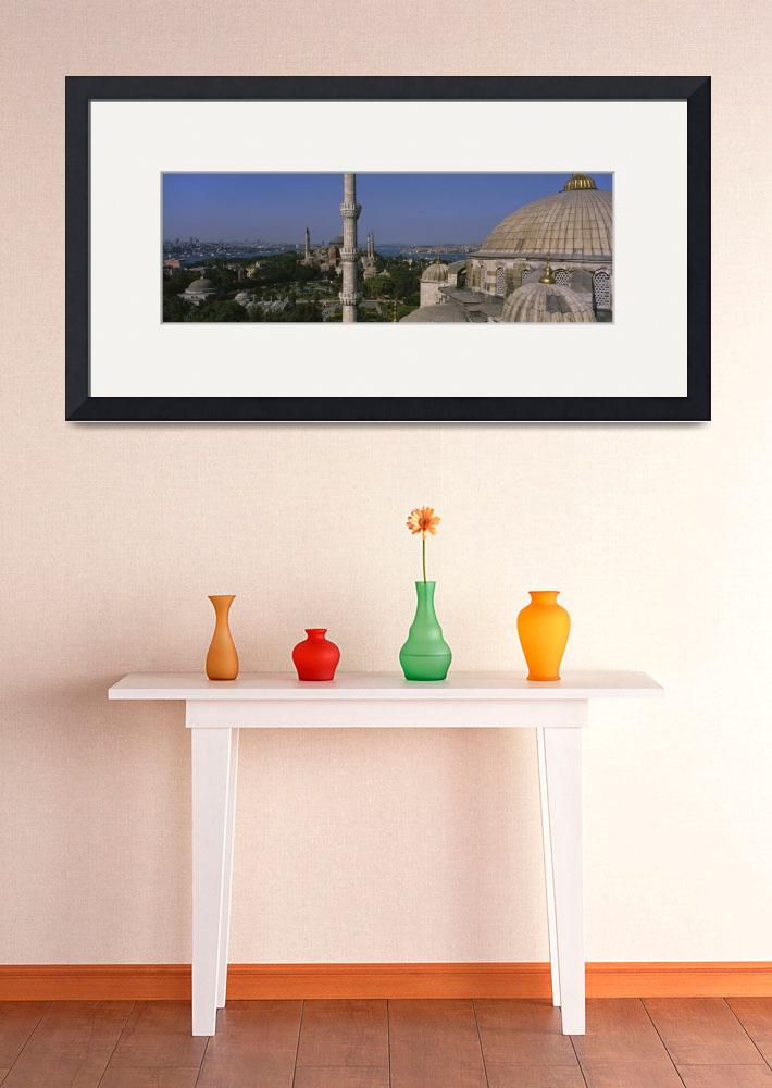 """""""High angle view of a mosque&quot  by Panoramic_Images"""