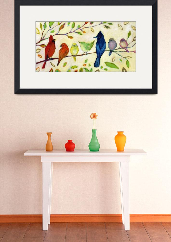 """""""A Flock of Many Colors&quot  (2013) by JENLO"""