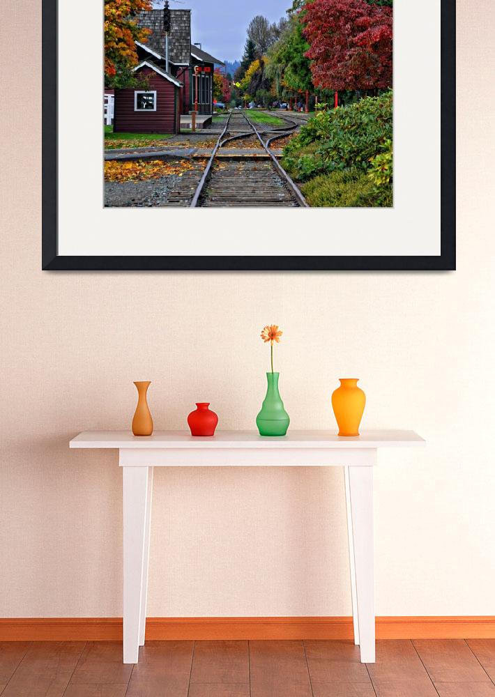 """Issaquah Train Station&quot  (2013) by Kirtdtisdale"