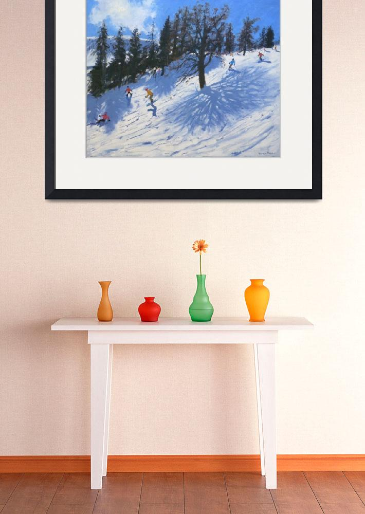 """""""Spring skiers, Verbier, 2010&quot  by fineartmasters"""