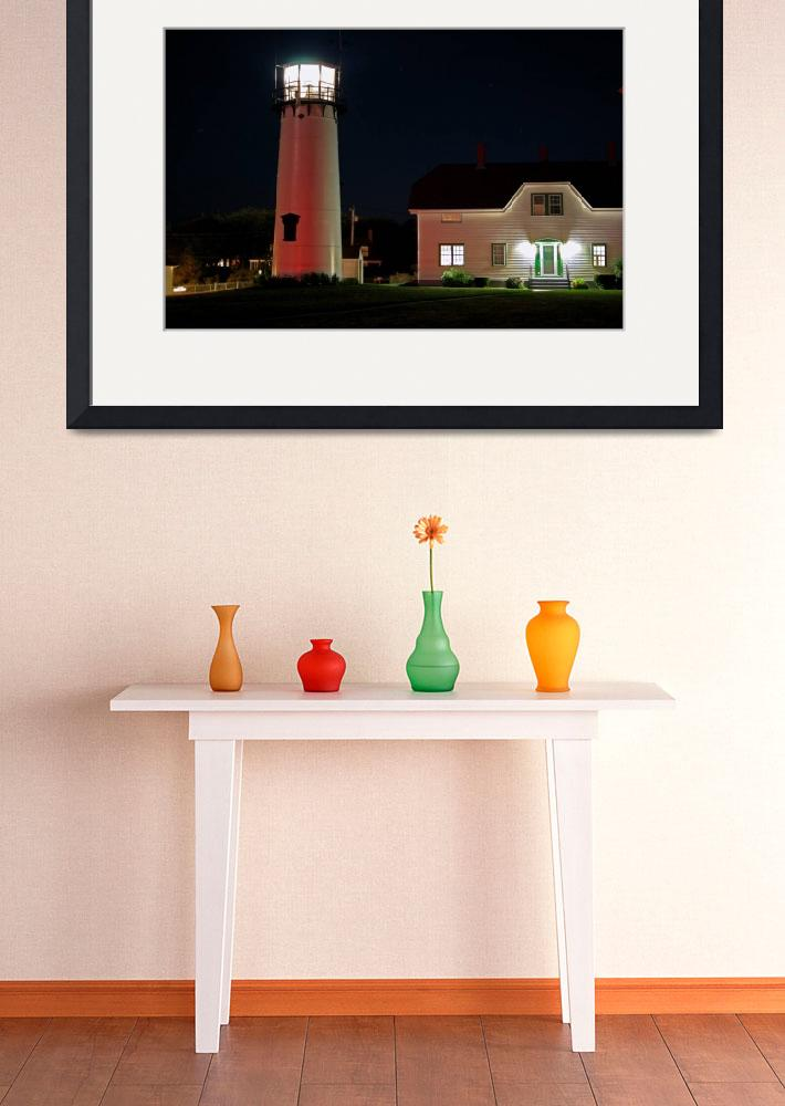 """""""Chatham Lighthouse at Night&quot  (2008) by ChrisSeufert"""
