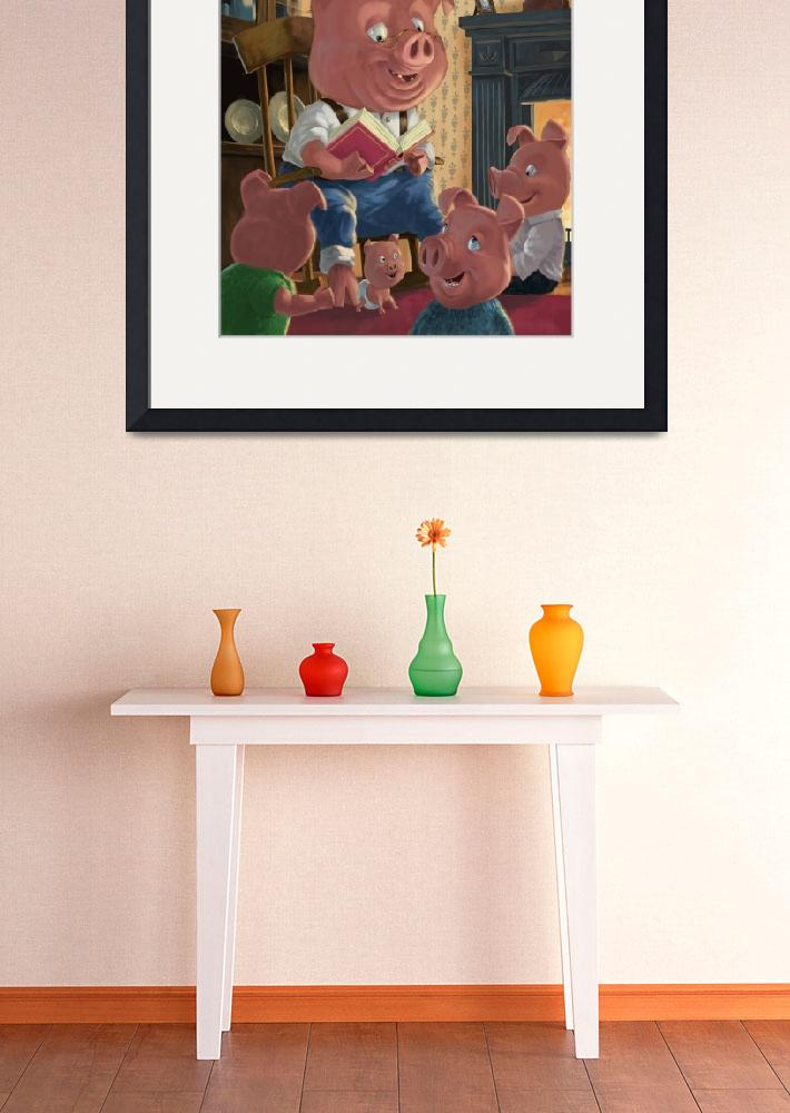"""""""story telling pig with family&quot  (2010) by martindavey"""