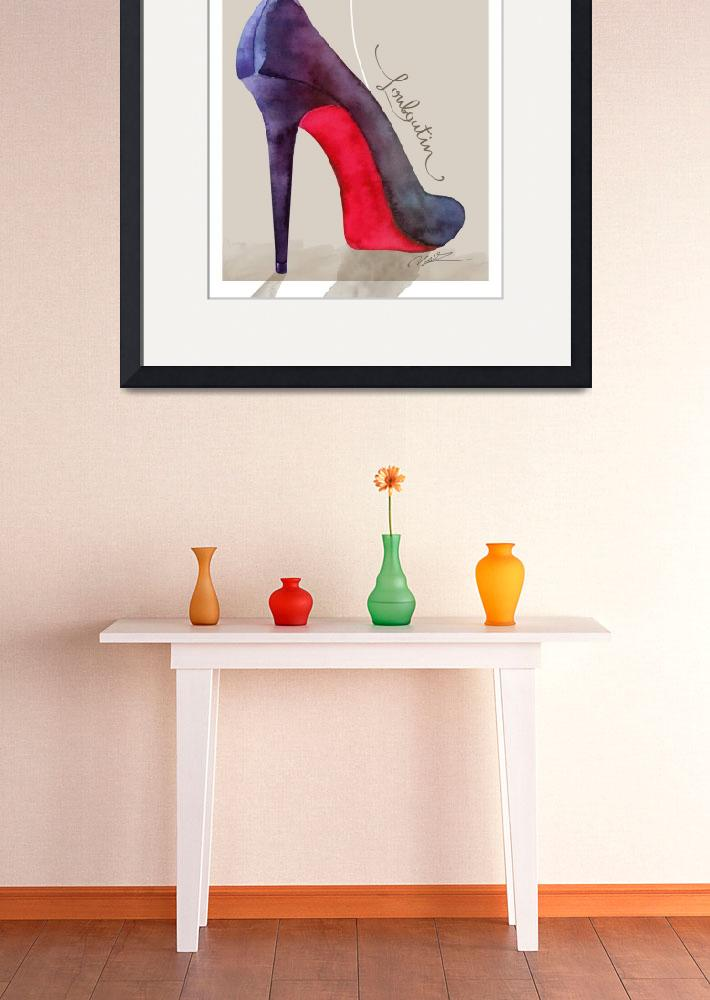 """""""The Louboutin shoe - fashion poster&quot  (2015) by nevenaart"""