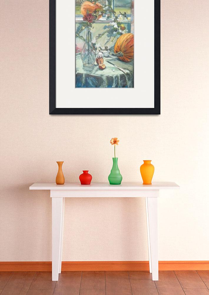 """""""Still Life on Windowsill and Table&quot  (2005) by MariaAnn"""