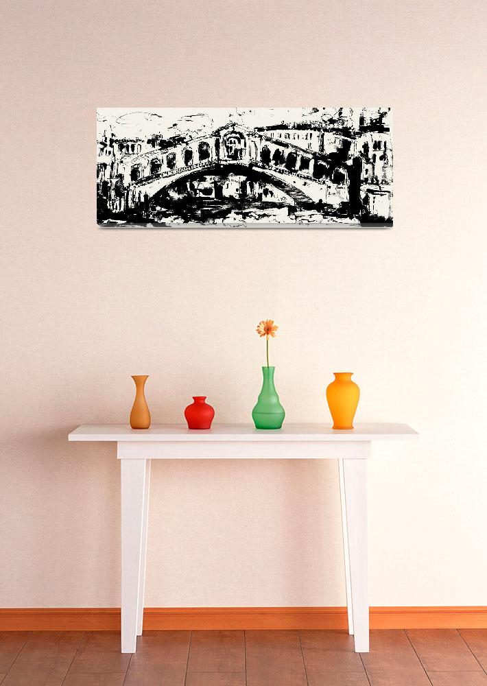 """""""Rialto Bridge From original painting by Ginette""""  (2010) by GinetteCallaway"""