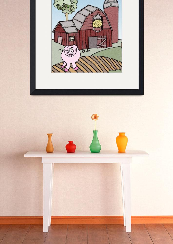 """Pig On The Farm&quot  (2009) by SherryHolderHunt"