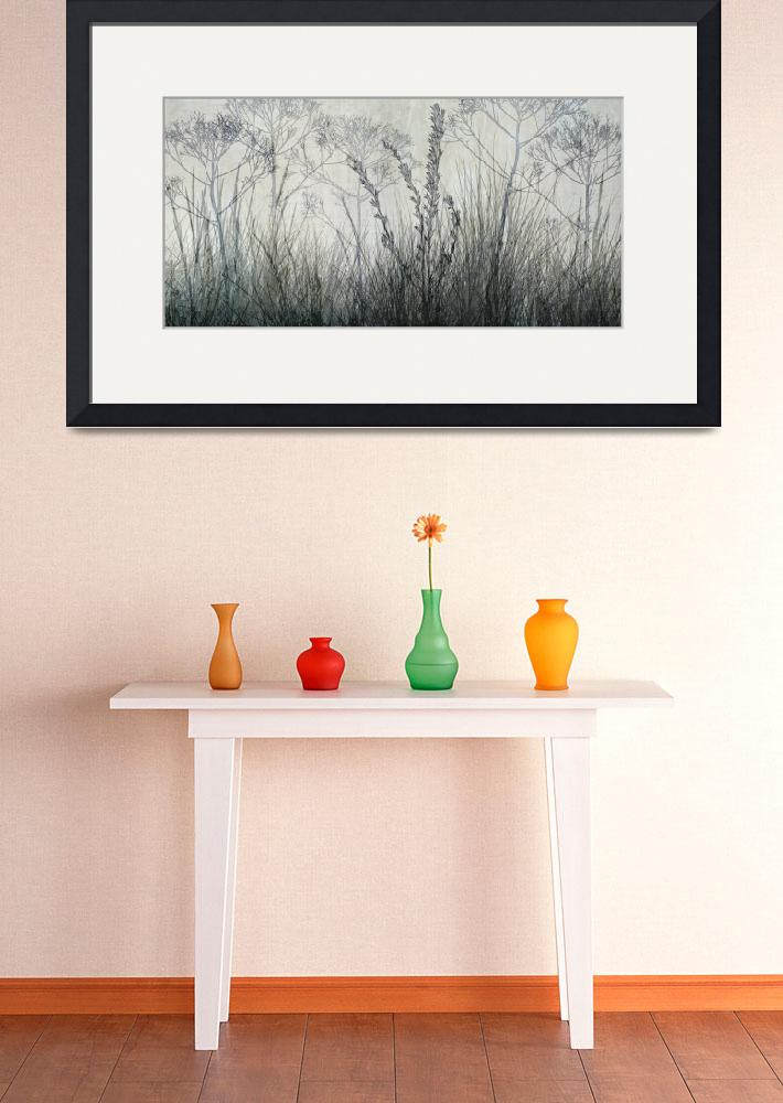 """""""Wildflower Silhouettes Grey&quot  (2013) by CoraNiele"""