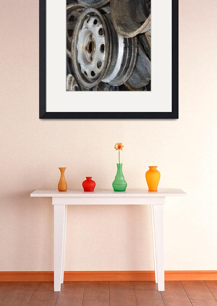 """""""Old Rusty Wheels 1&quot  (2009) by dmarshall"""