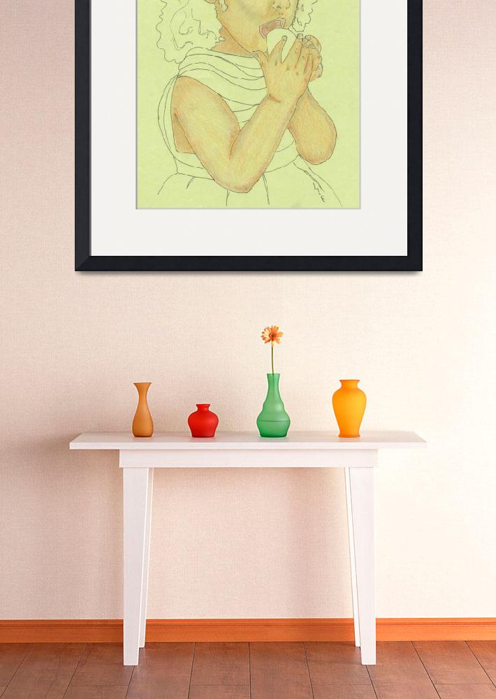 """""""girl with fruit&quot  (2006) by CherylsArt"""