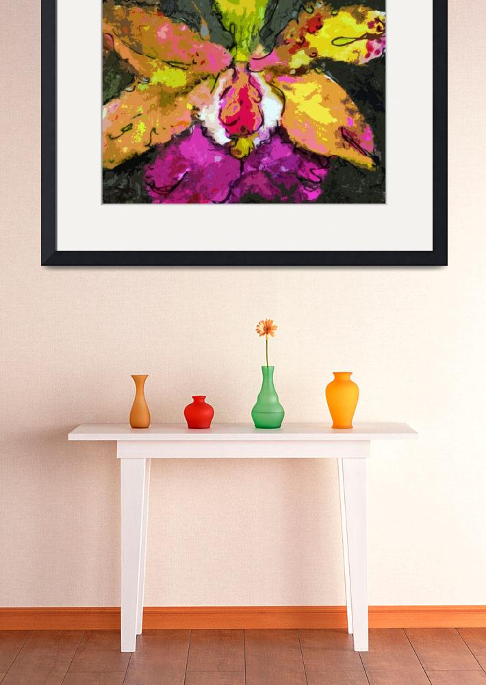 """""""Orchid Modern Expressive Art""""  (2014) by GinetteCallaway"""