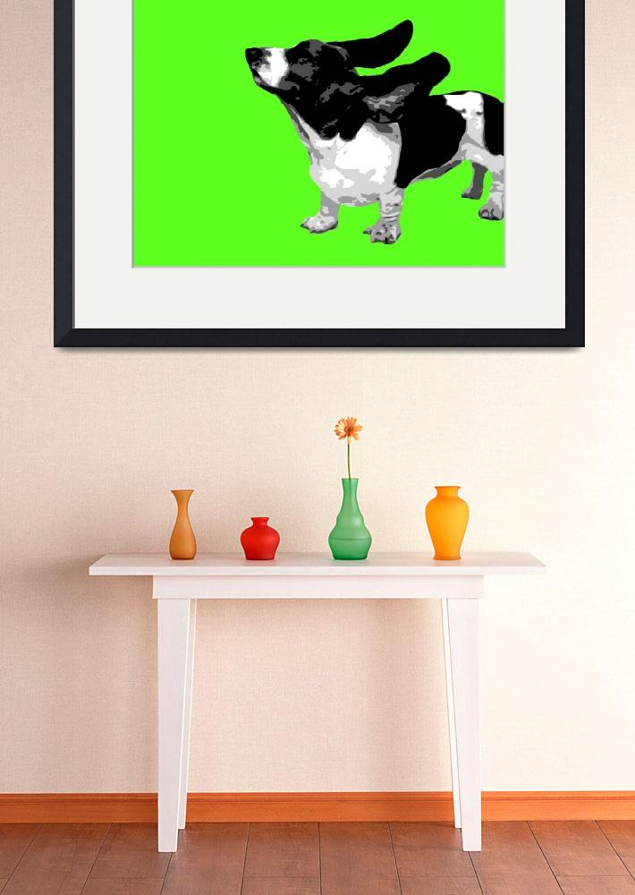 """Basset Green Pop&quot  (2010) by whitewallgallery"