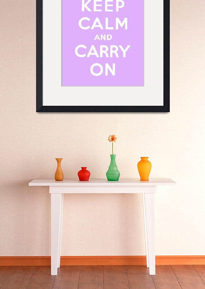 """""""Purple Keep Calm And Carry On 4&quot  by oldies"""