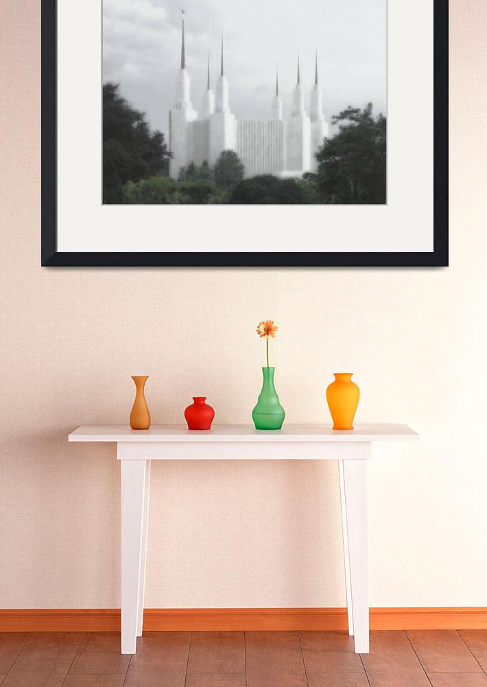 """""""DC Summer temple Large-16x22-tinted&quot  by TerrySpringer"""