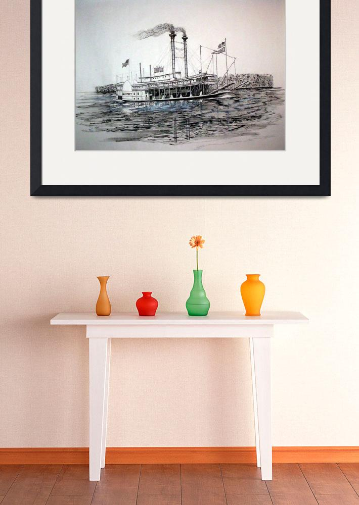 """""""Riverboat NATCHEZ&quot  (2009) by RichardHall"""