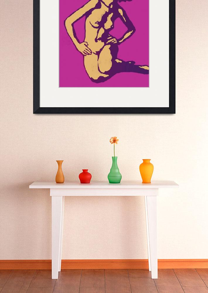 """""""Etching style nude pop art  poster""""  (2014) by visualharbour"""