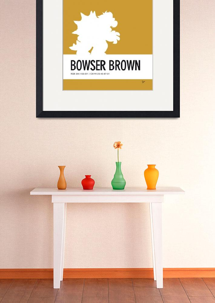 """No38 My Minimal Color Code poster Bowser&quot  by Chungkong"