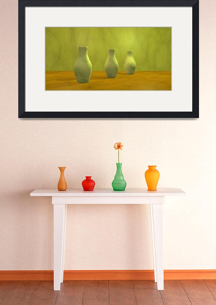 """Three Vases II""  (2010) by gabiw"
