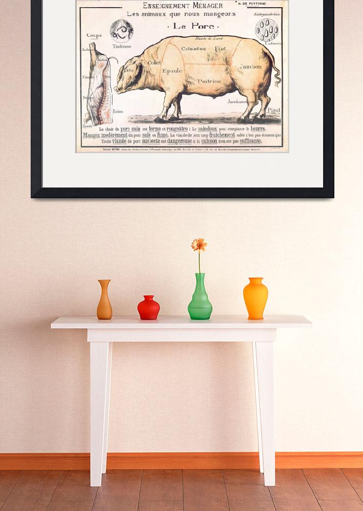 """""""Cuts of Pork, illustration from a French Domestic&quot  by fineartmasters"""