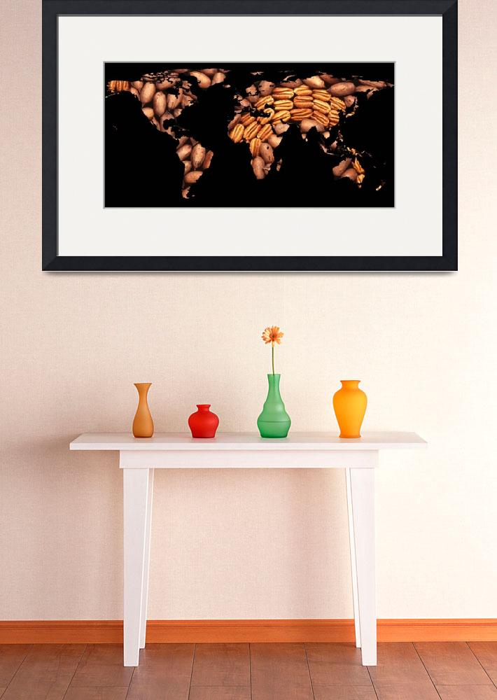 """""""World Map Silhouette - Pecans in a Design&quot  by Alleycatshirts"""