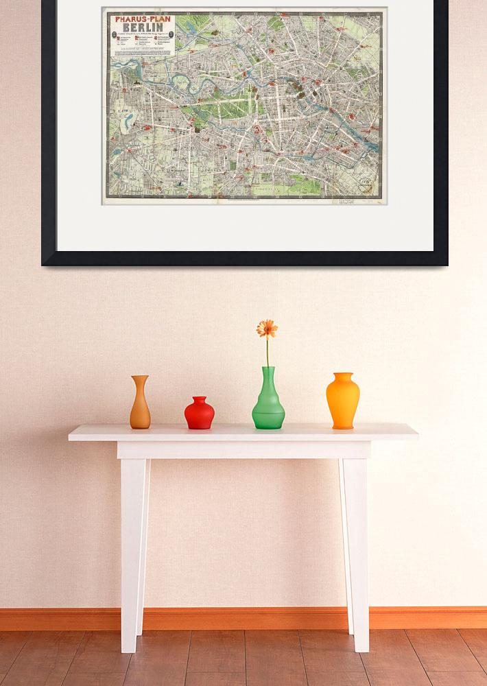 """""""Vintage Map of Berlin Germany (1905)&quot  by Alleycatshirts"""