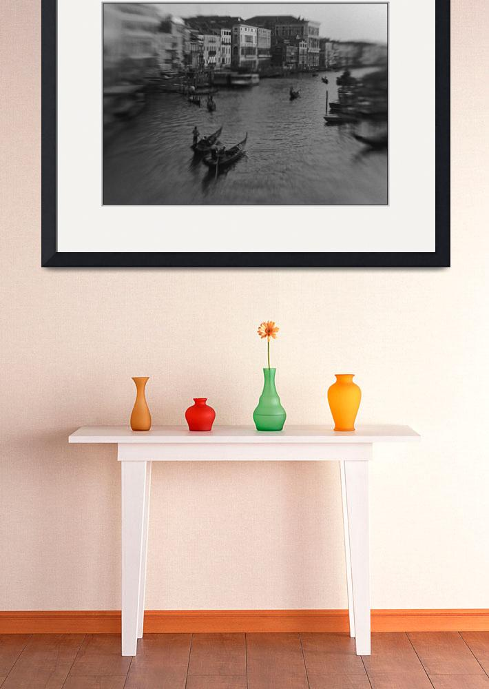 """""""Canal Grande, Distortion Effect, Venice&quot  by Aldo"""