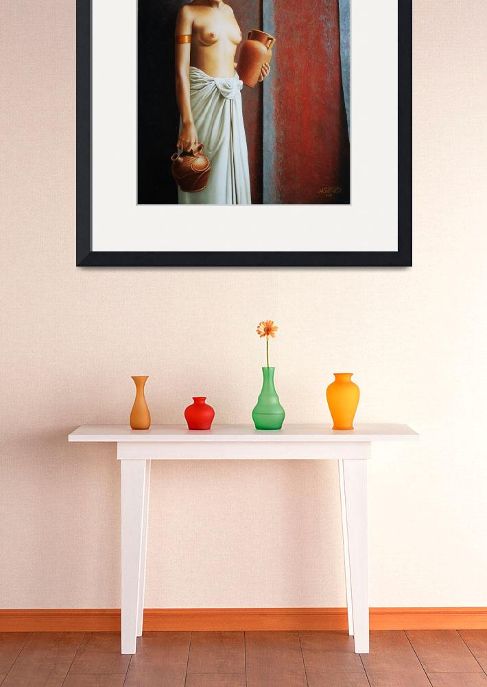 """""""Woman Carrying Vases&quot  (2008) by Horacio-Cardozo"""