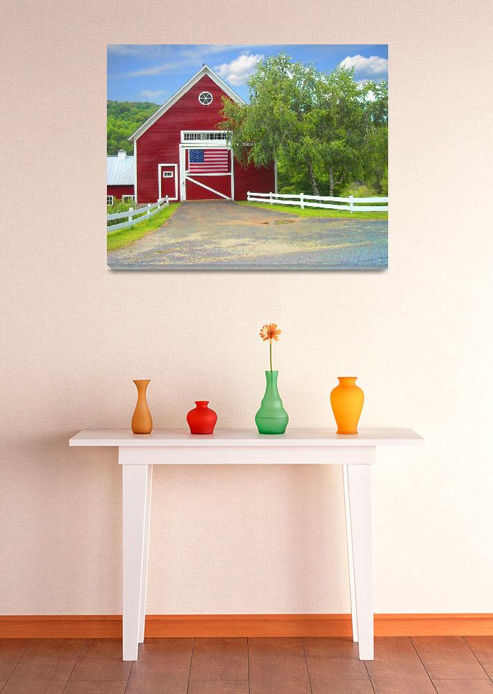 """""""Vermont Barn""""  (2009) by gmboy"""