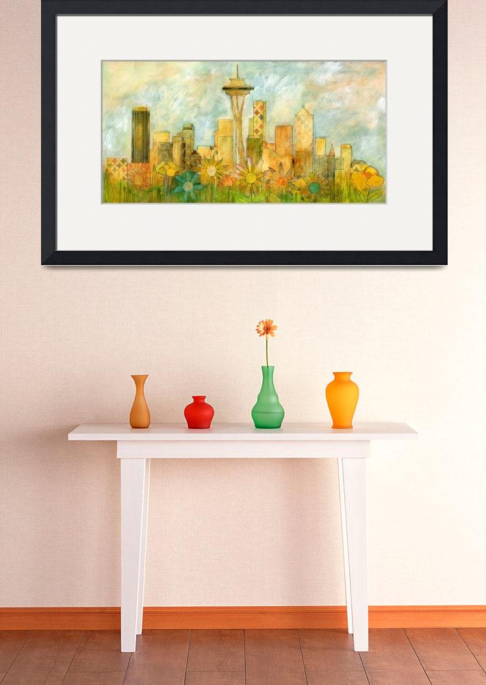 """Seattle Skyline in Bloom I&quot  (2014) by HandwrittenLife"