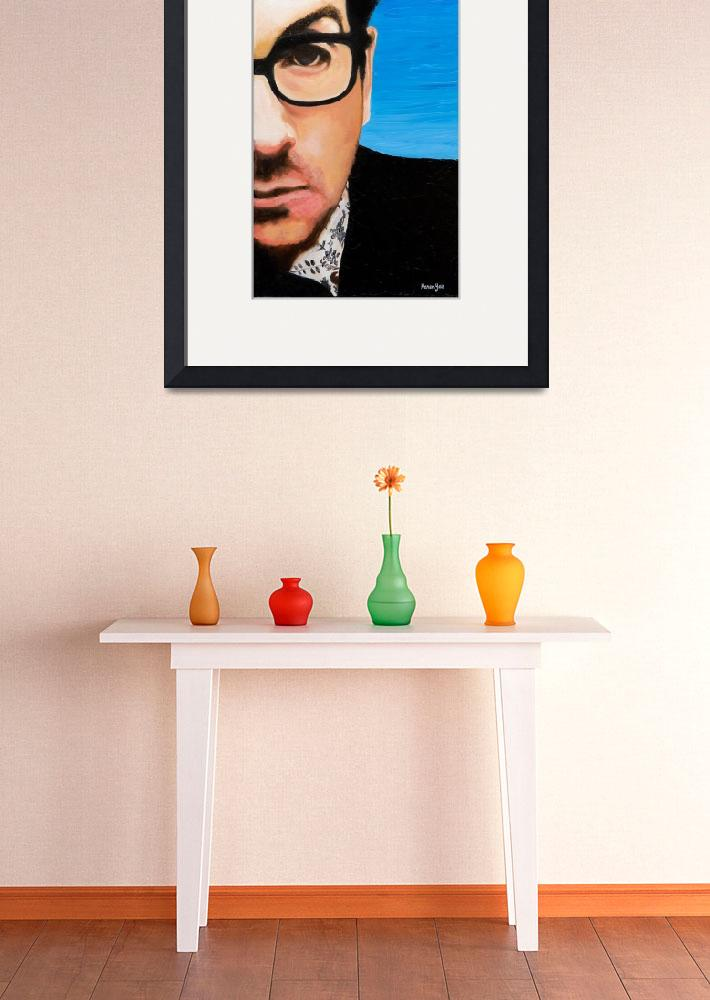 """Elvis Costello&quot  by KarenYeeFineArt"