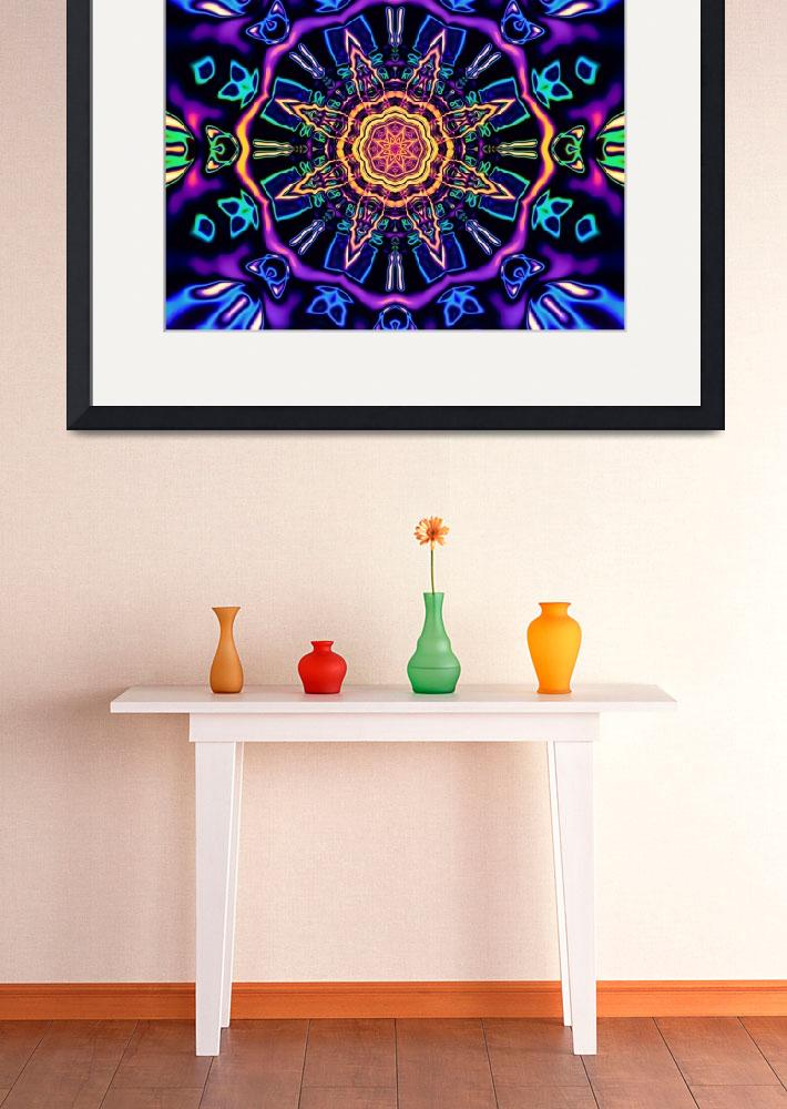 """""""""""Return to Awe"""" - Psychedelic Abstract Mandala&quot  (2015) by LeahMcNeir"""