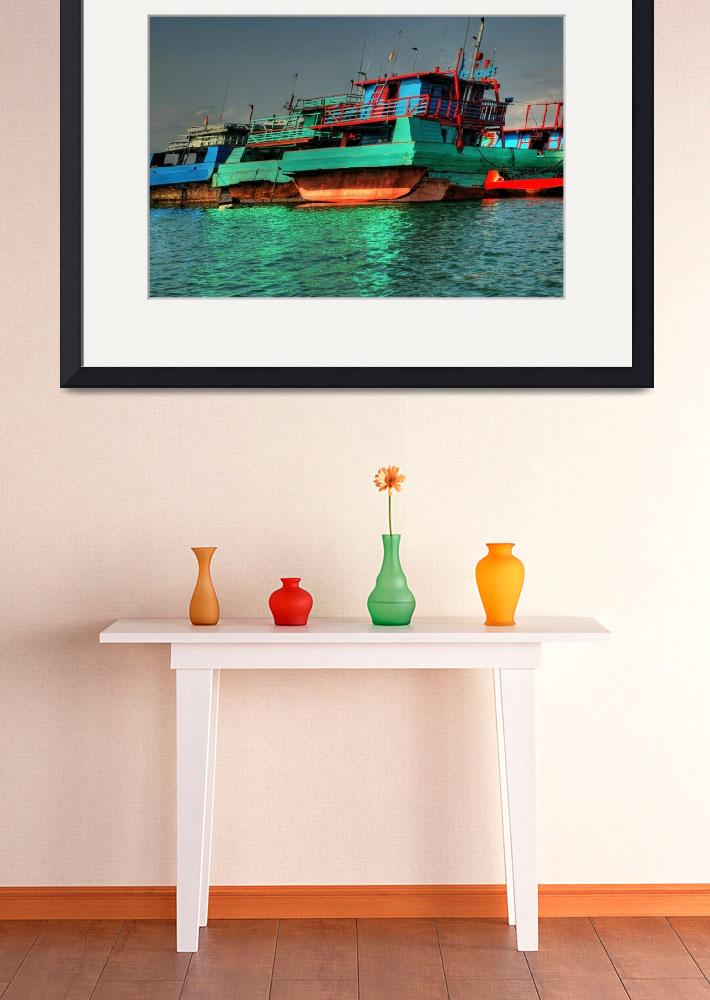 """""""Bali Boats&quot  (2009) by wildmilne"""