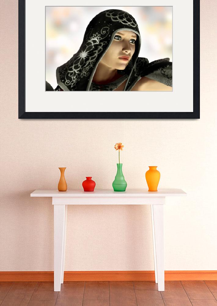 """""""Hooded Portrait&quot  (2010) by walbyent"""
