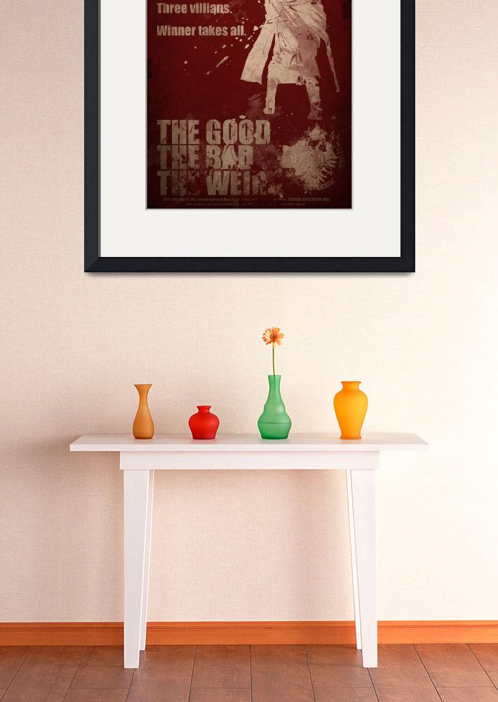"""The Good The Bad The Weird Movie Poster&quot  (2010) by RickEagles"