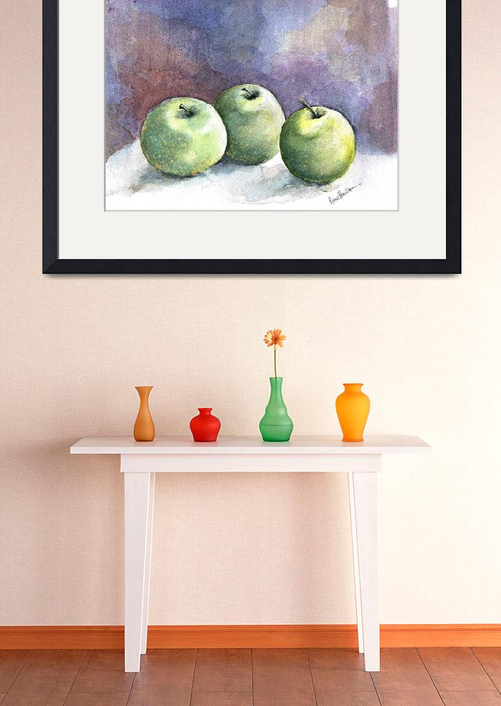 """three apples&quot  (2007) by HVStudios"