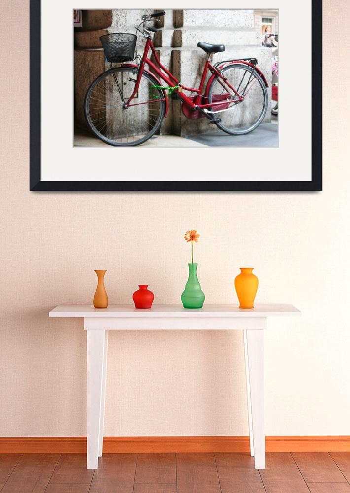 """""""Red bike in Florence&quot  by tiffanybrubaker"""