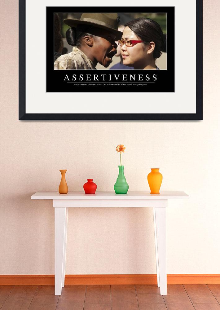 """""""Assertiveness: Inspirational Quote and Motivationa&quot  by stocktrekimages"""