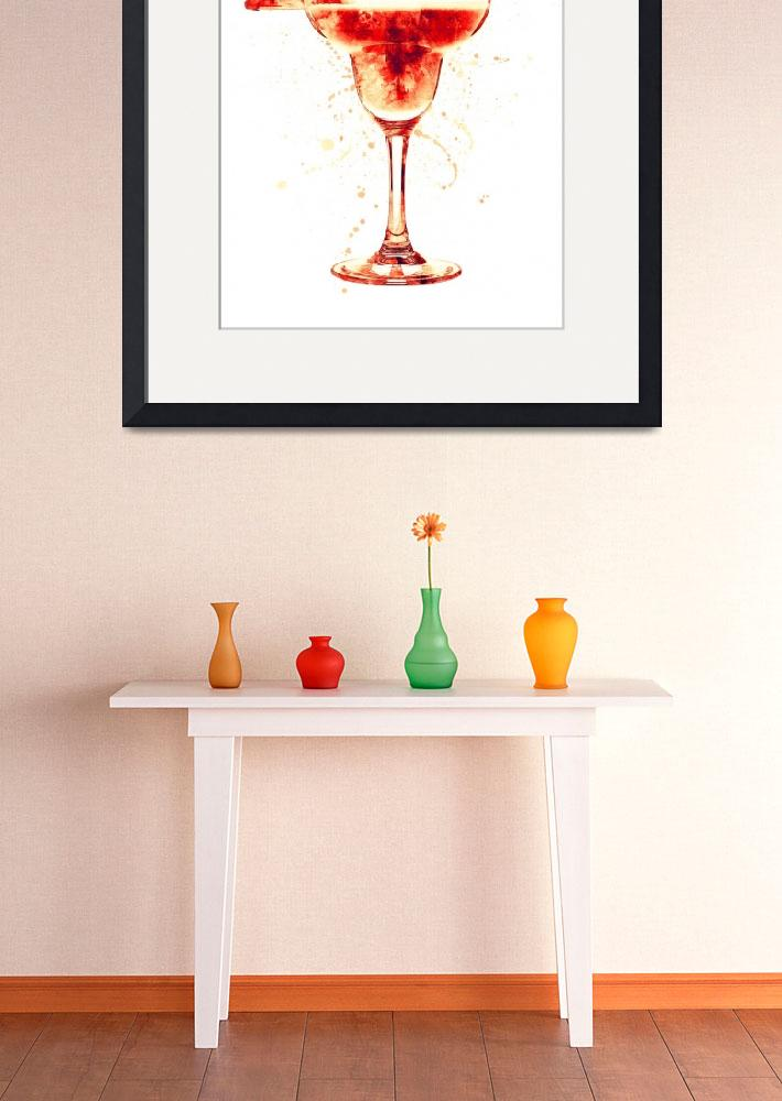"""""""Cocktail Drinks Glass Watercolor&quot  (2017) by ModernArtPrints"""